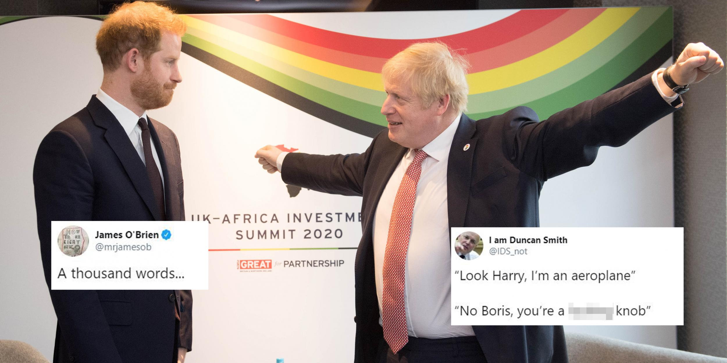 This picture of Boris Johnson and Prince Harry has become an incredible meme