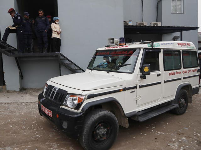 Bodies of the eight decesed were transported to a hospital in Kathmandu