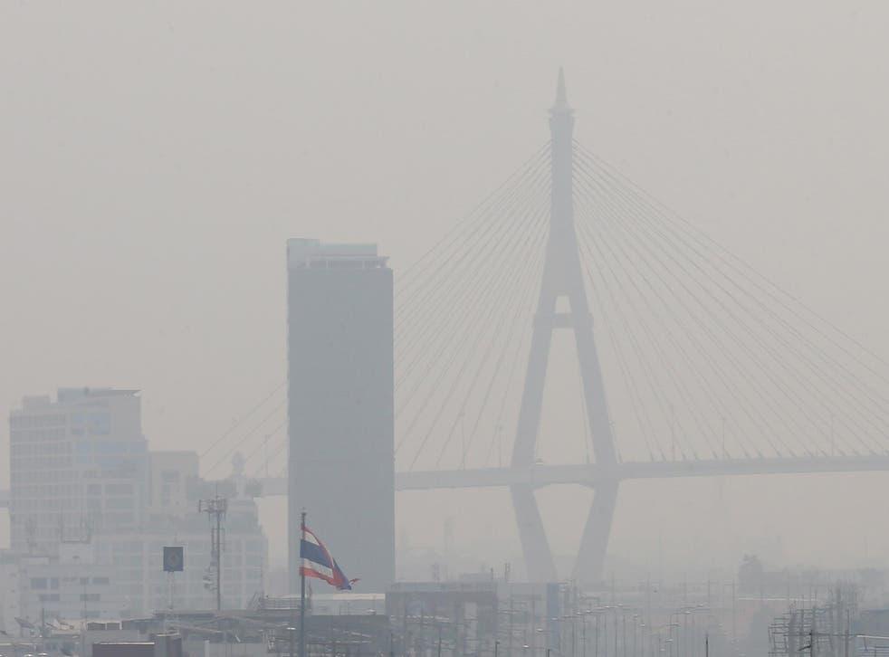 Bangkok is shrouded in dense smog