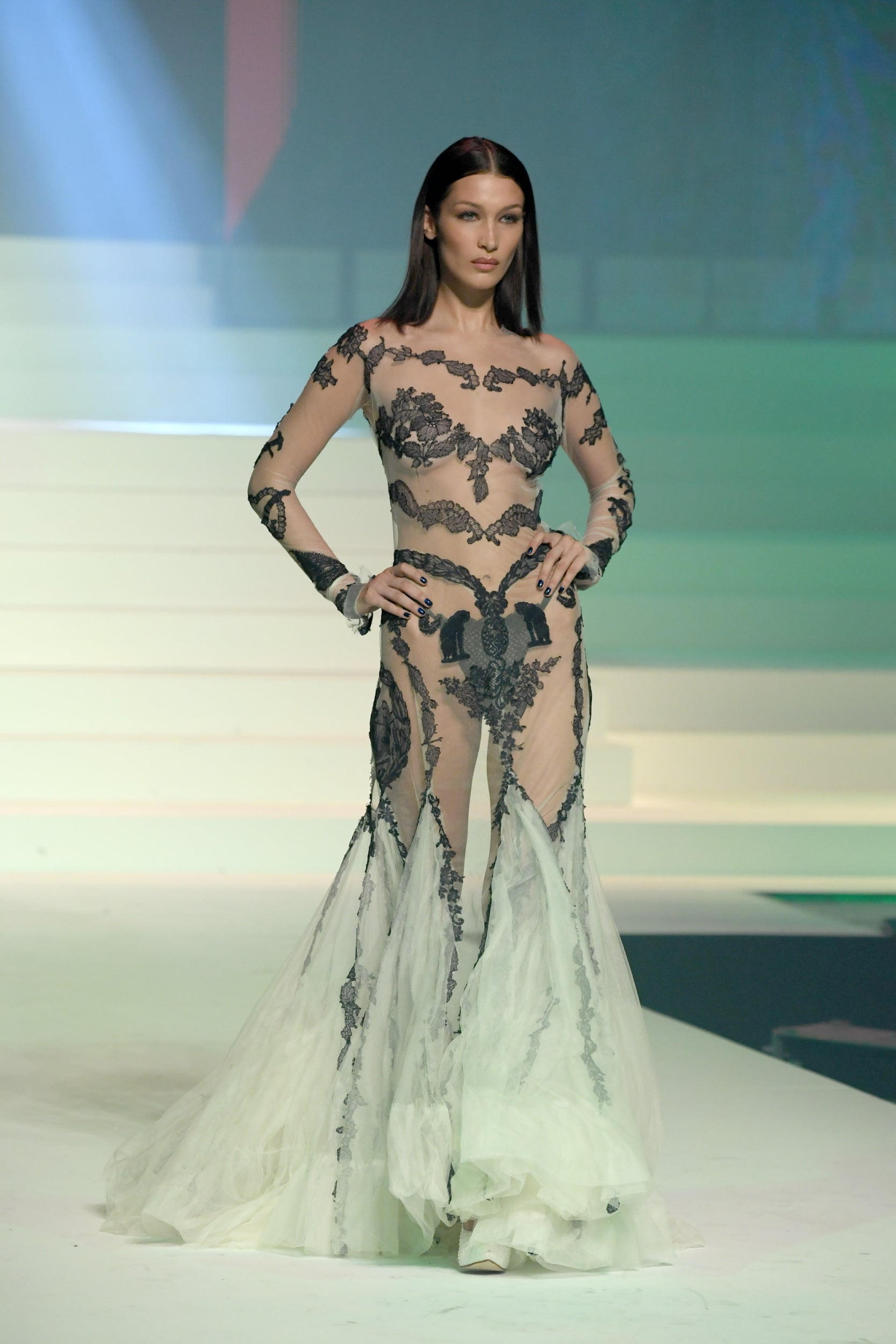 Jean Paul Gaultier Boy George And Bella Hadid Attend Designer S Final Fashion Show The Independent