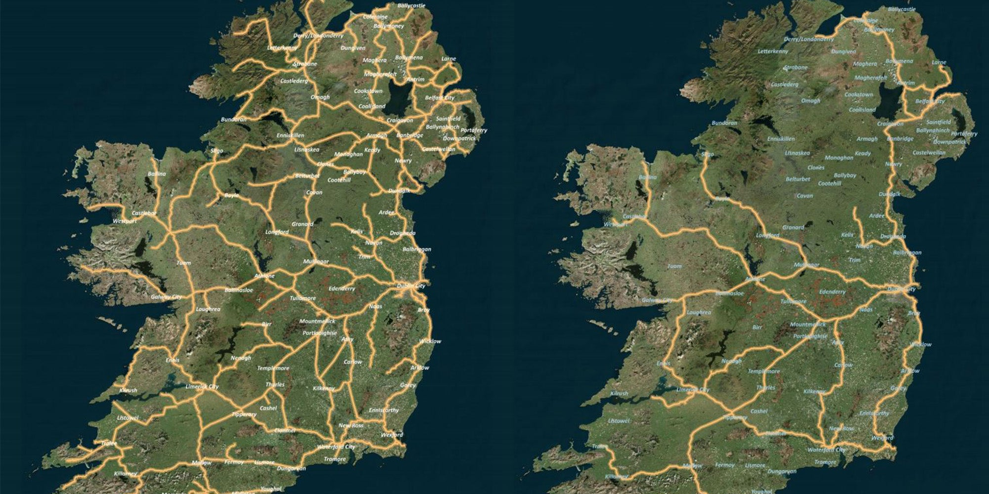 This map of Ireland's train network 100 years ago shows how bad it i…