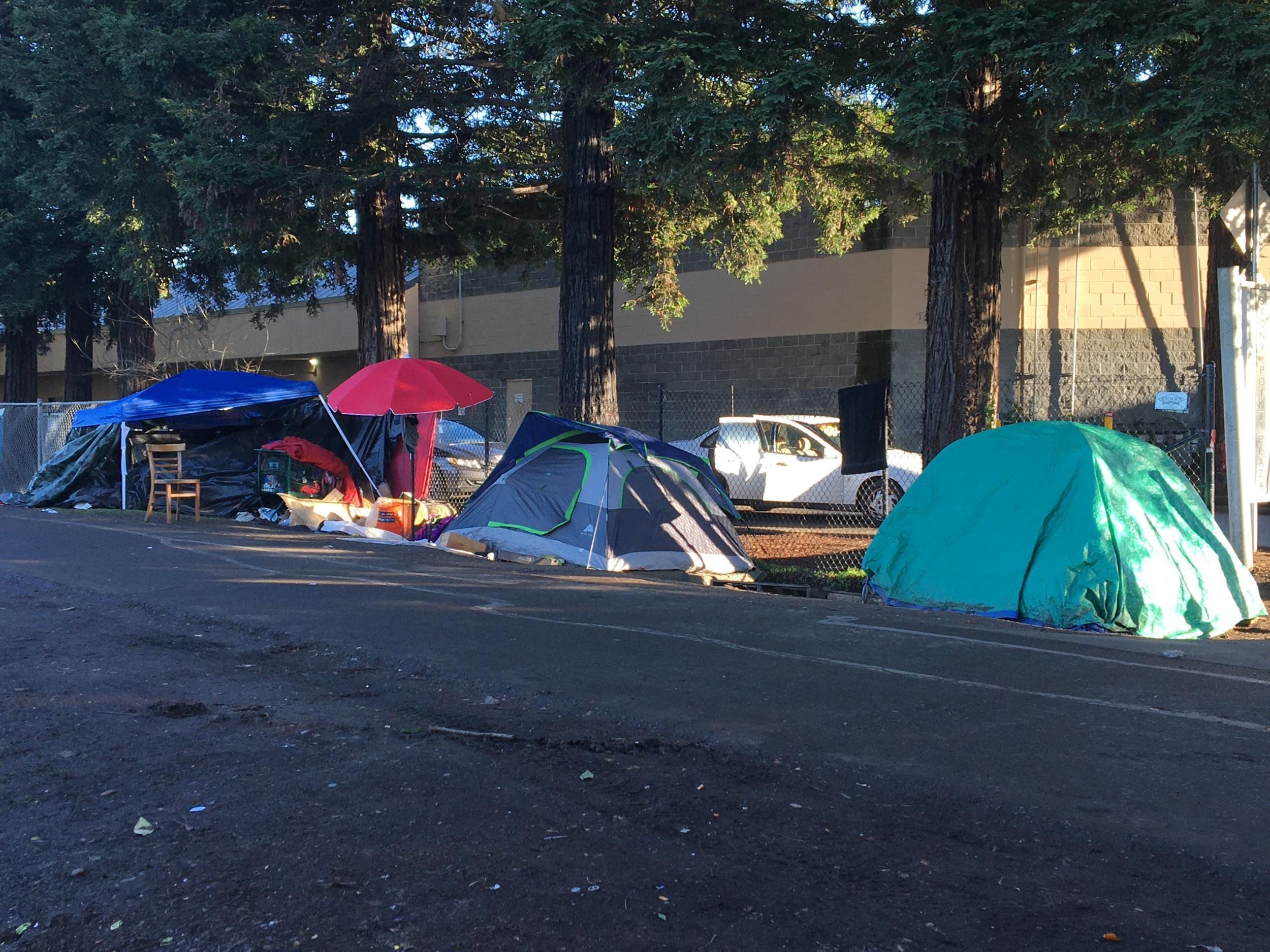 mile long California homeless camp