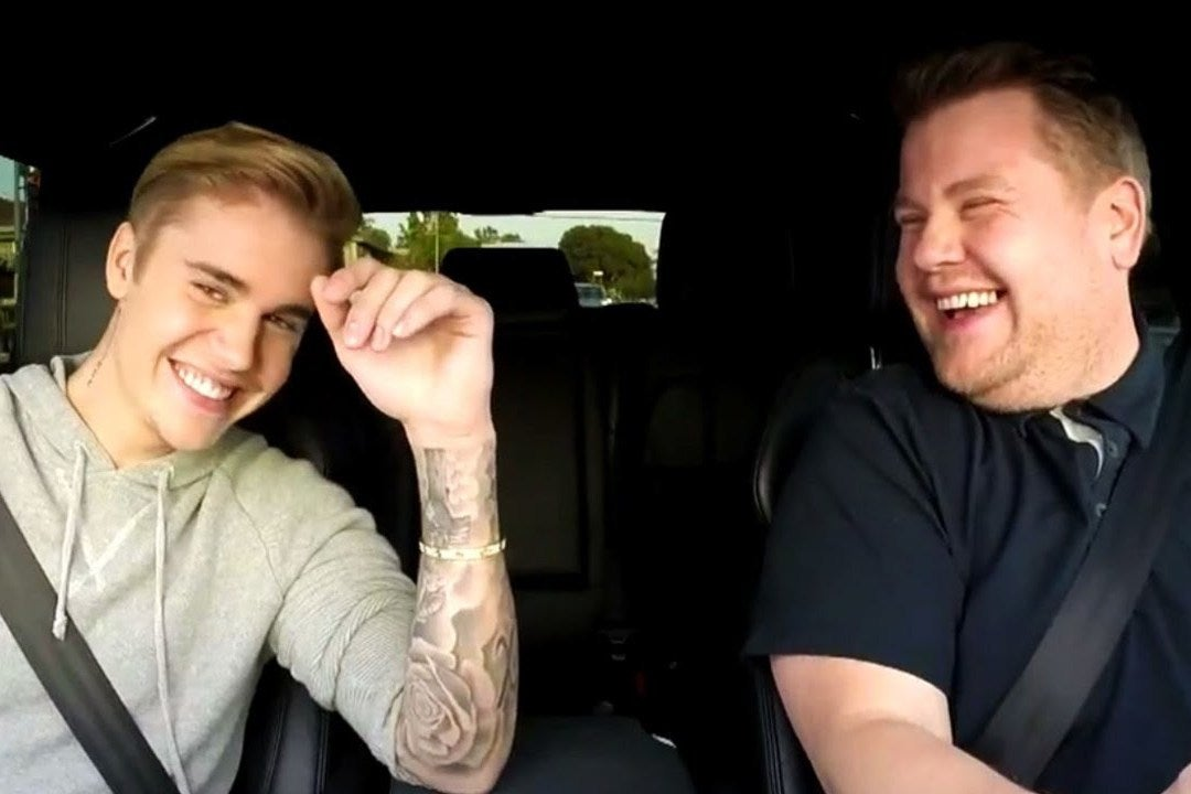 James Corden fans shocked to see Late Late Show host and Justin Bieber being towed for Carpool Karaoke