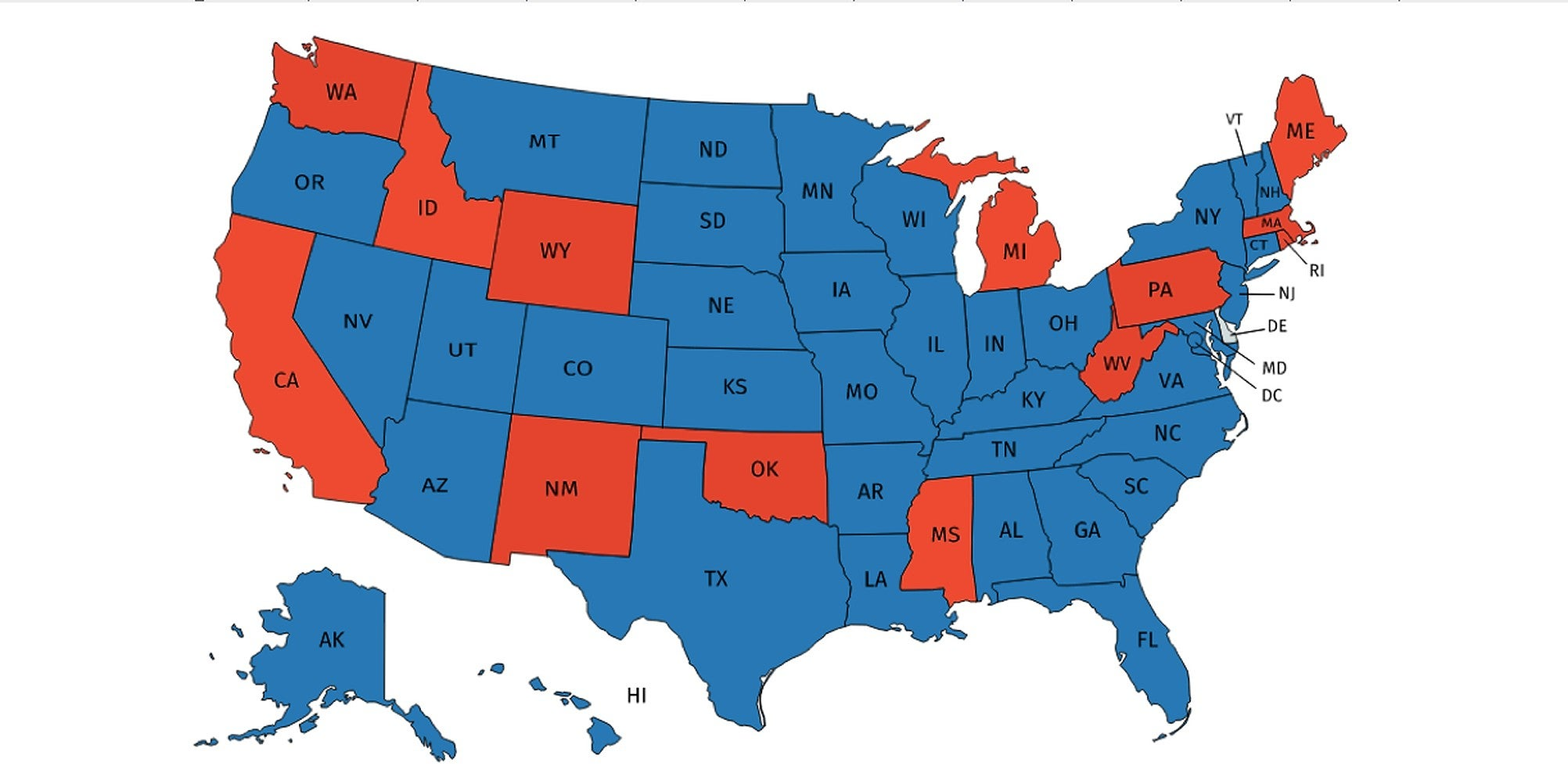 The US states with no lower age limit on marriage, mapped