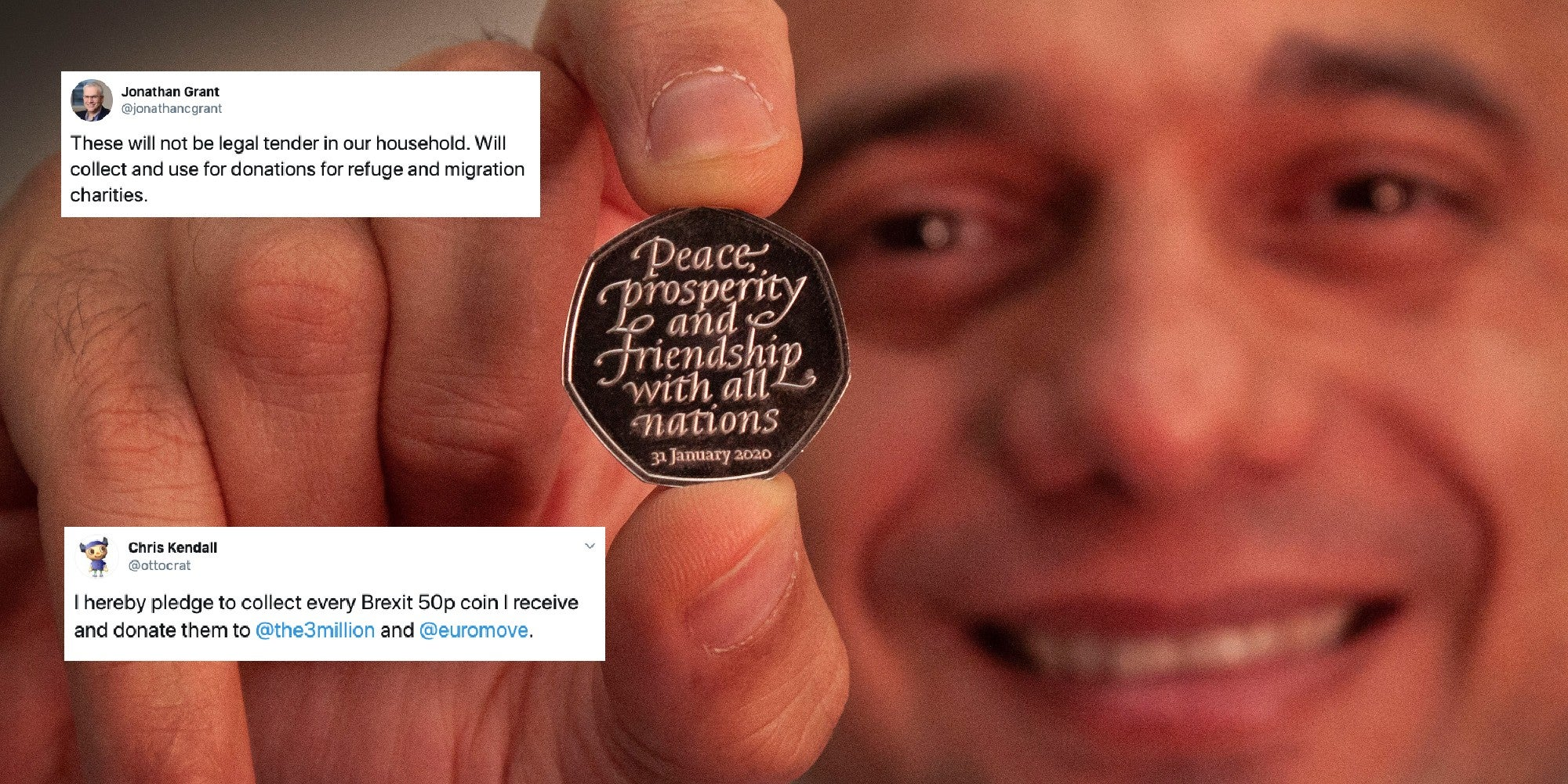 People are planning to donate their Brexit 50p coins to child refuge…