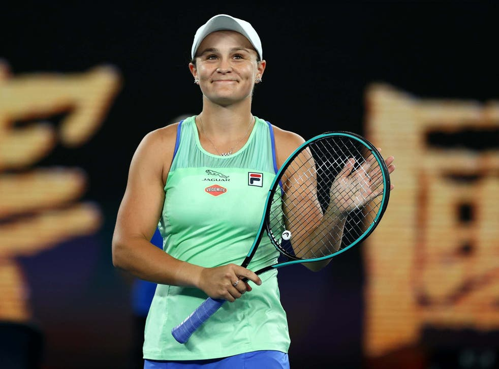 Ashleigh Barty prospered in front of her home crowd