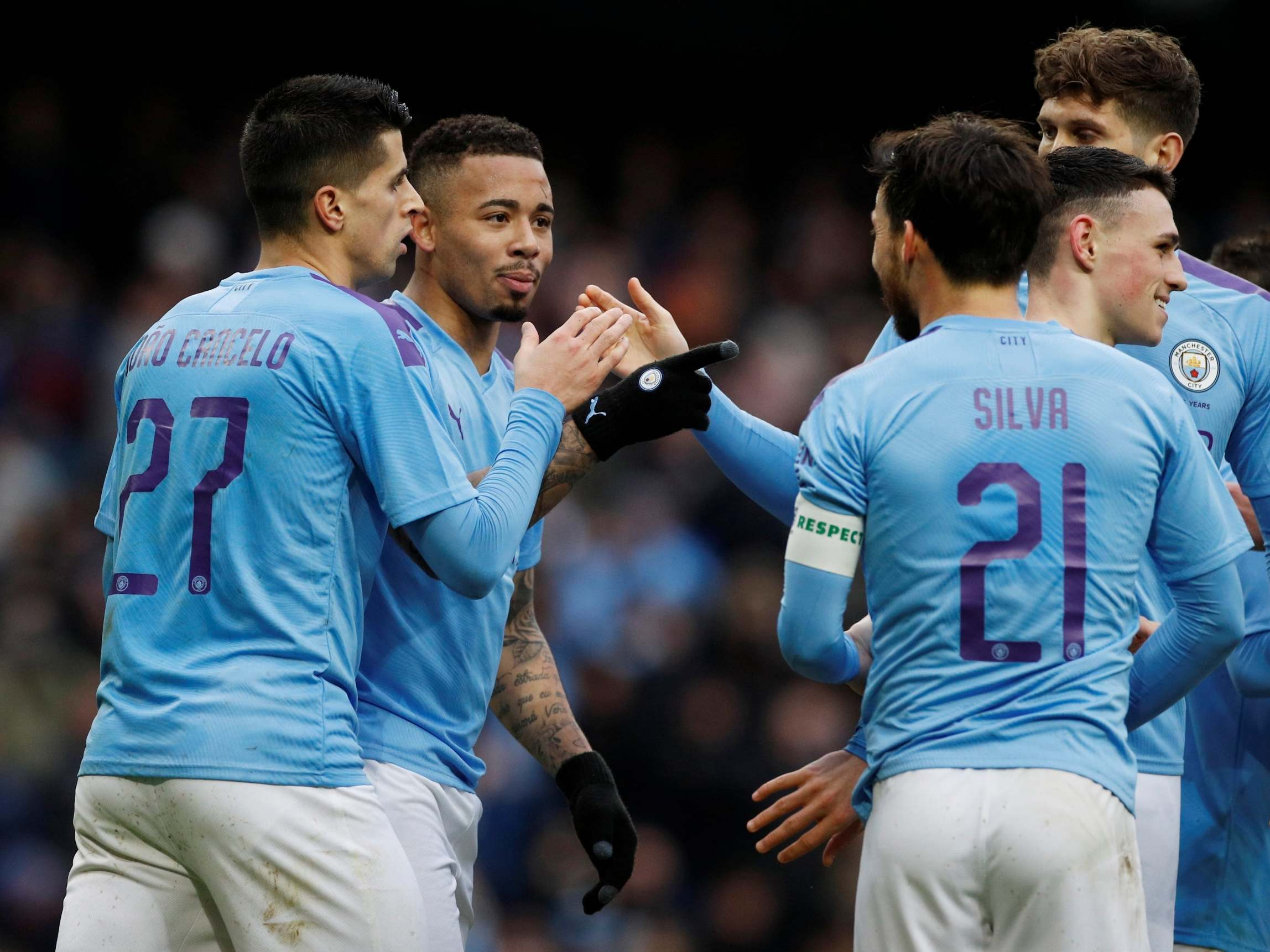 Gabriel Jesus-inspired Man City cruise past 10-man Fulham to reach FA Cup fifth round