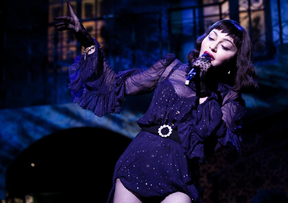Madonna performs live during her Madame X tour