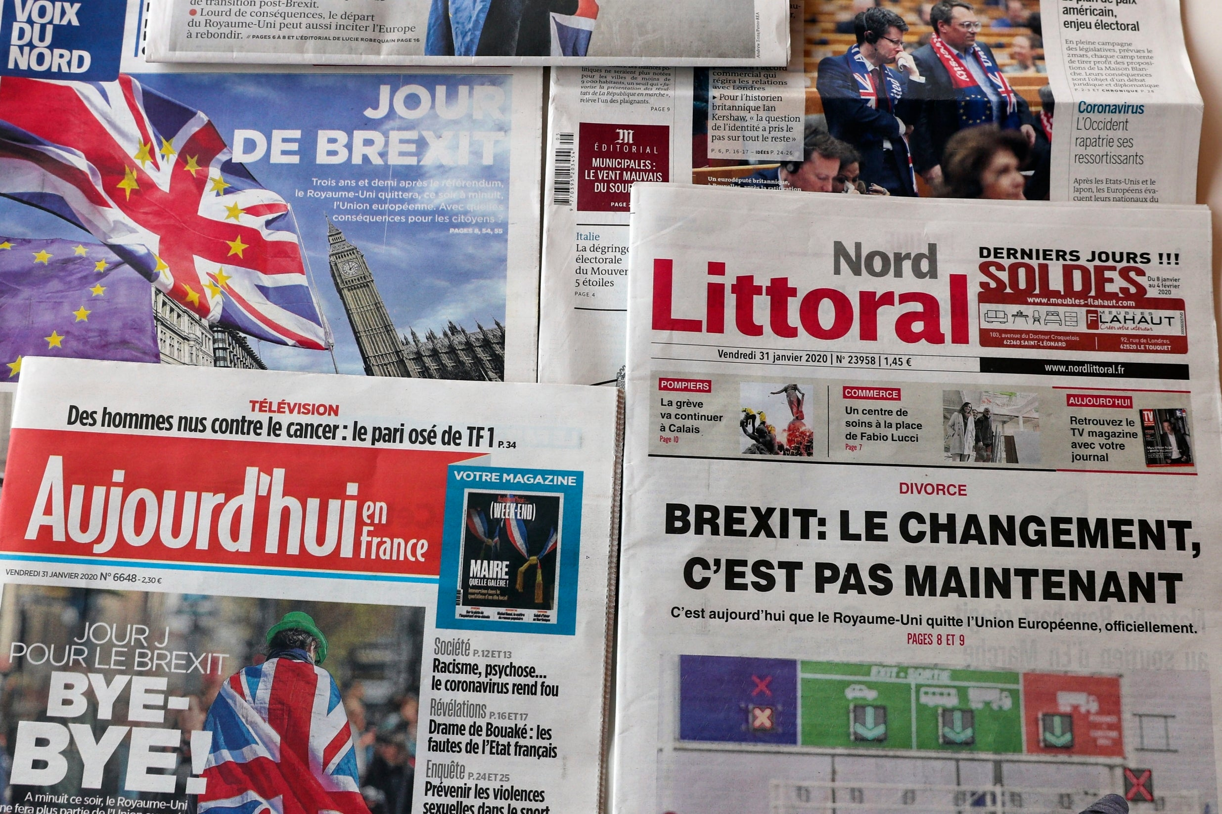 Not a bang, but a whimper': How Europe's newspapers are reporting Brexit  day | The Independent | The Independent