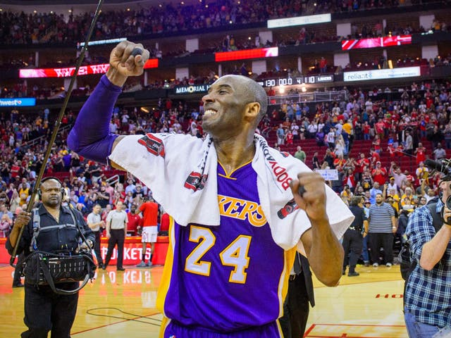Kobe Bryant wore the No 24 jersey for the LA Lakers