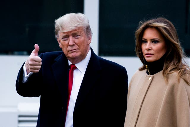 <p>Thumbs up: Donald Trump lives to fight another day</p>