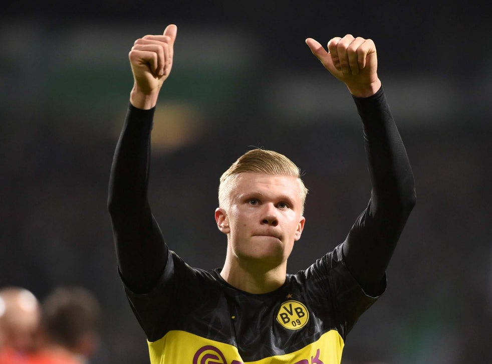 Erling Haaland Borussia Dortmund Striker Sets New Goalscoring Record As Hot Start To Life In Black And Yellow Continues The Independent The Independent
