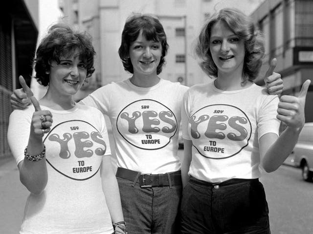 Britain voted 67 per cent in favour of remaining in the EEC 45 years ago