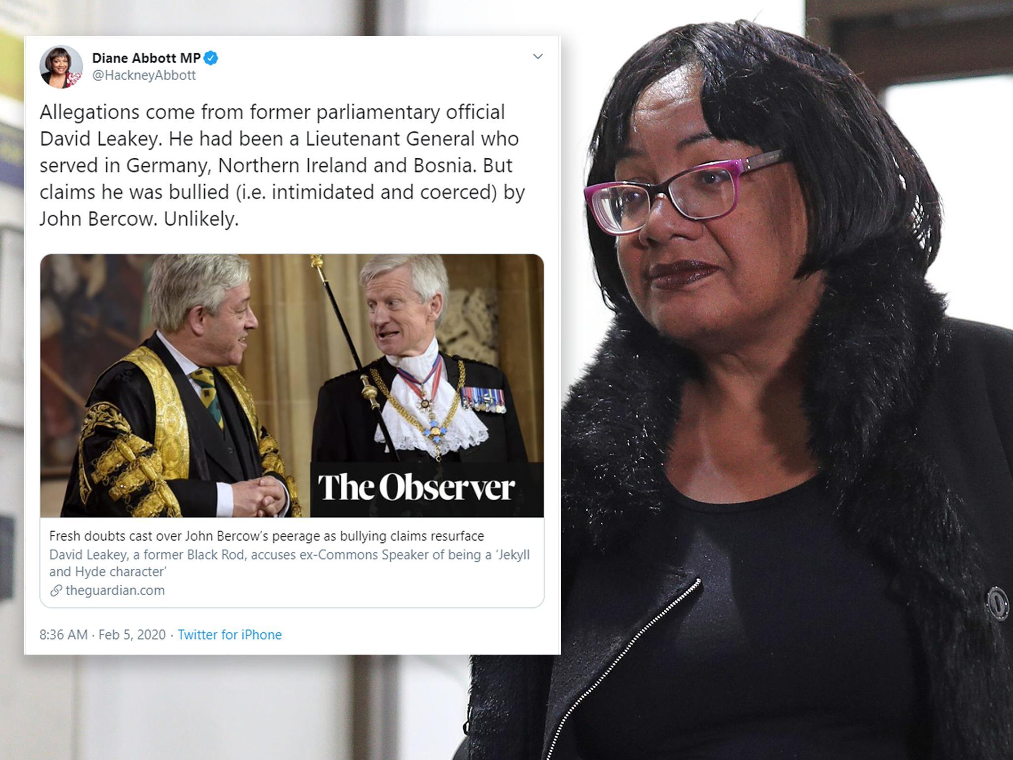 Diane Abbott's ridiculous claim that strong men can't be bullied isn't just wrong – it's disappointing