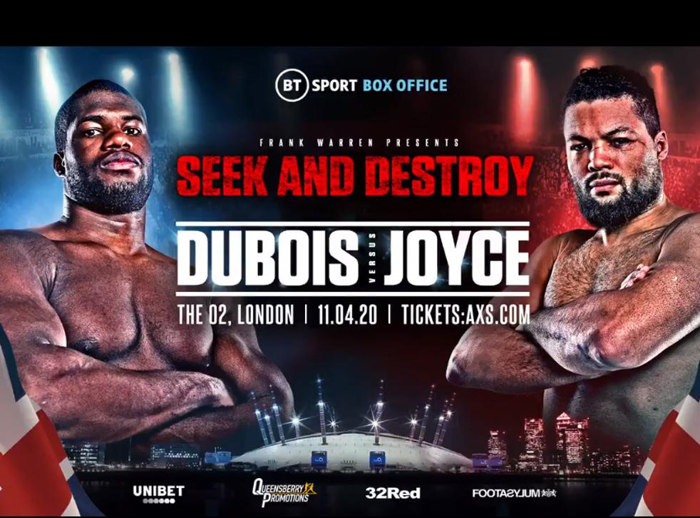 Dubois vs Joyce will headline The O2 Arena
