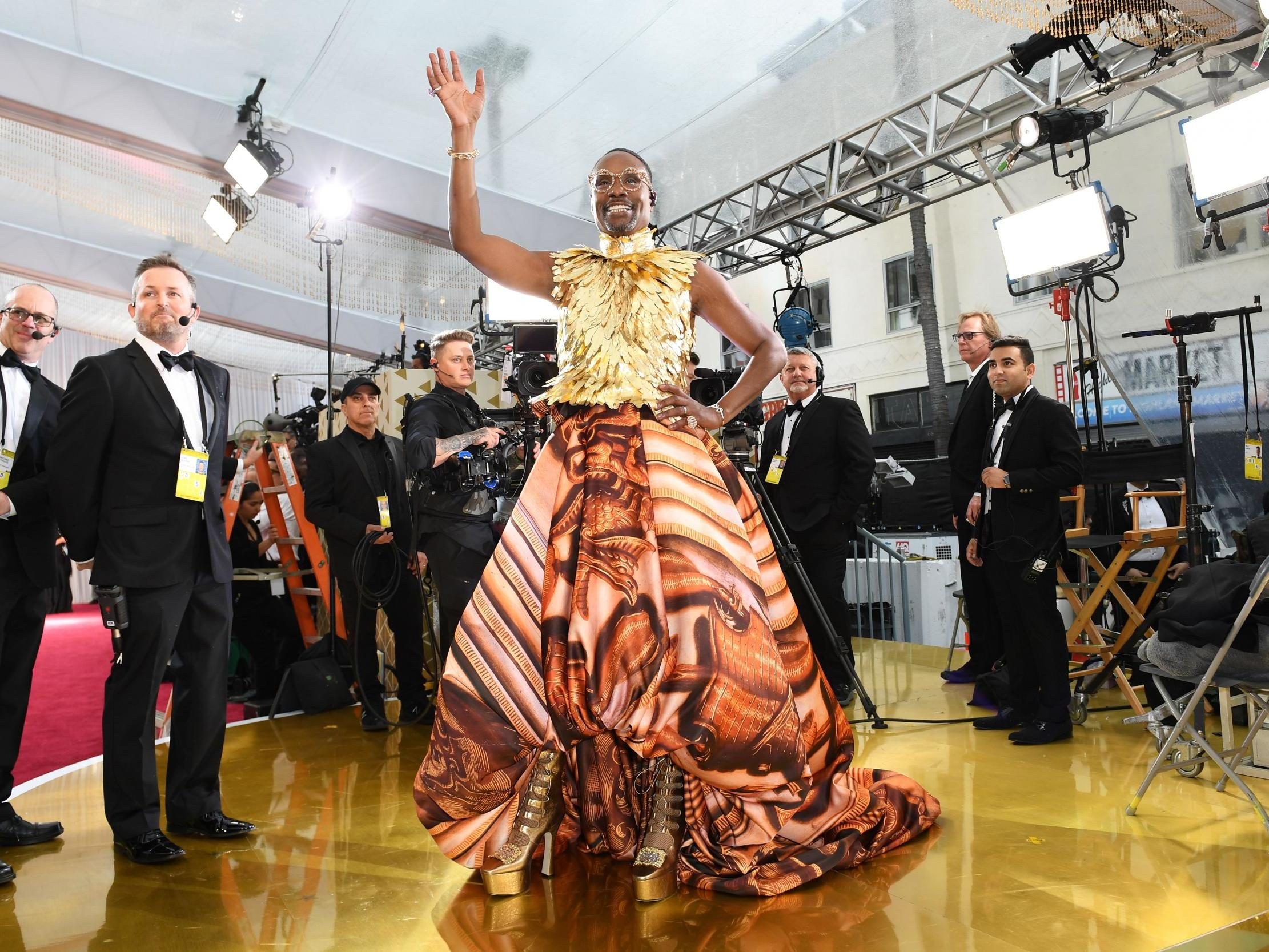Billy Porter wows in golden couture ensemble