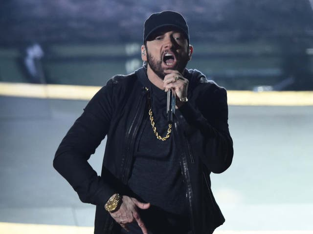 Eminem performs at the Oscars