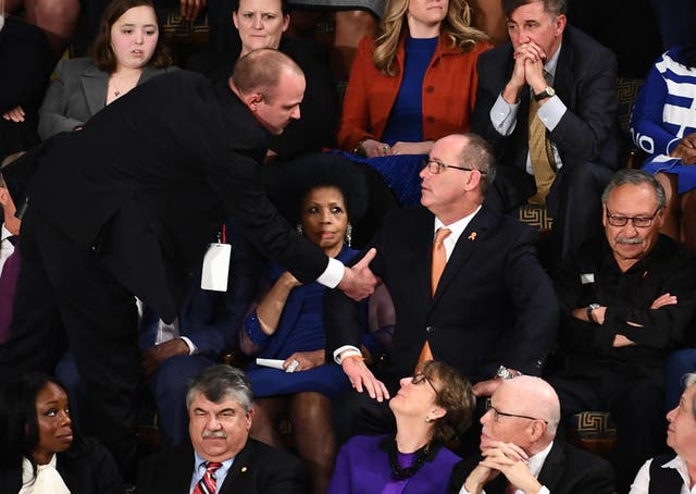 Fred Guttenberg, whose 14-year-old daughter was killed in the Parkland shootings in 2018, was removed from the State of the Union.
