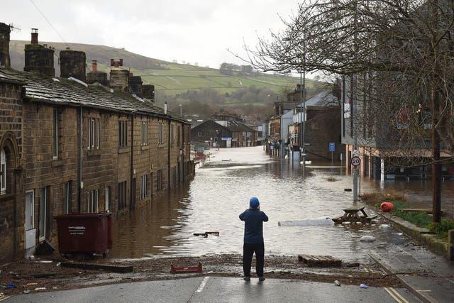 <p>Storm Ciara devastated Mytholmroyd in February 2020, as the River Calder burst its banks</p>