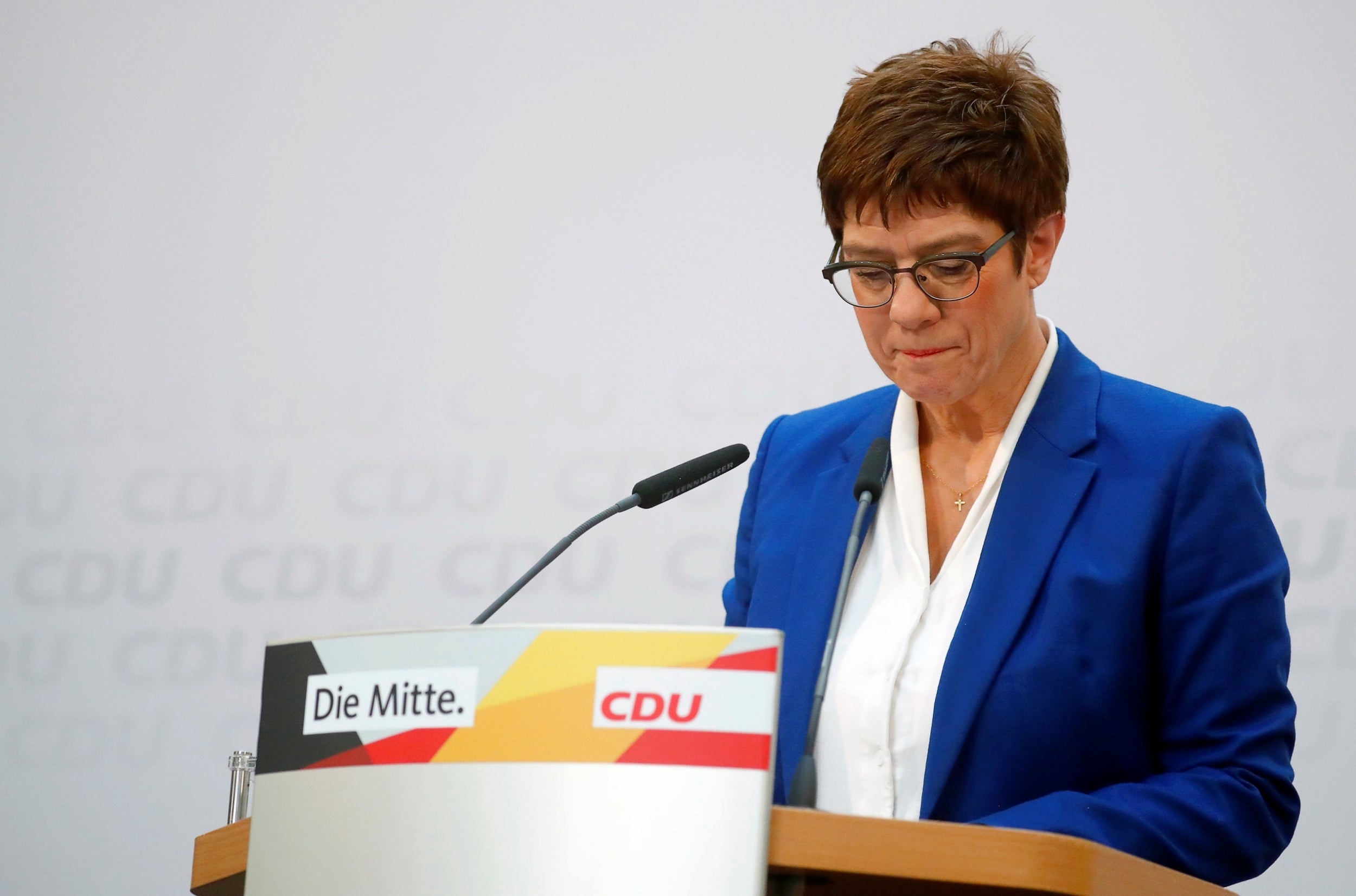 Angela Merkel's planned successor Annegret Kramp-Karrenbauer steps aside amid far-right row