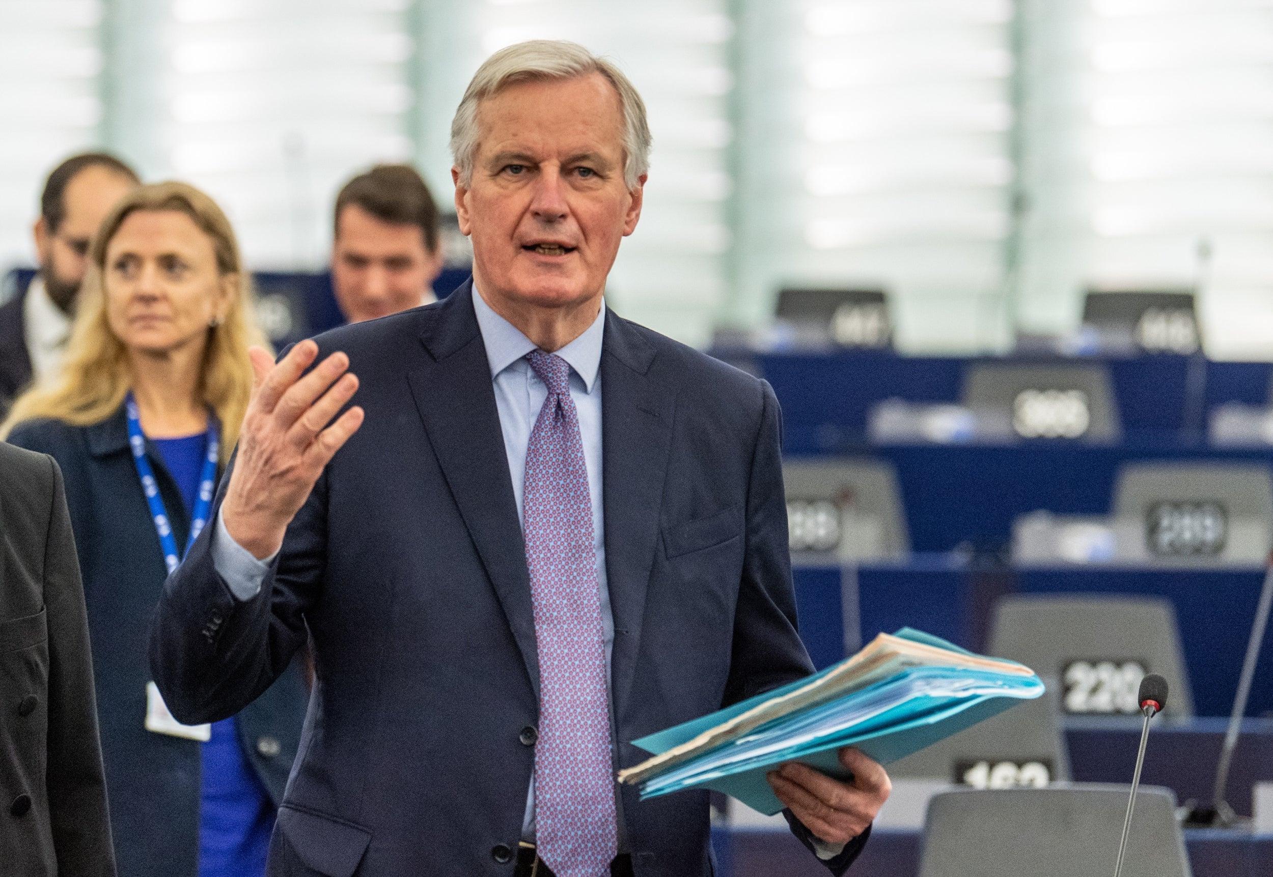Michel Barnier rebuffs Boris Johnson's top negotiator over EU trade deal