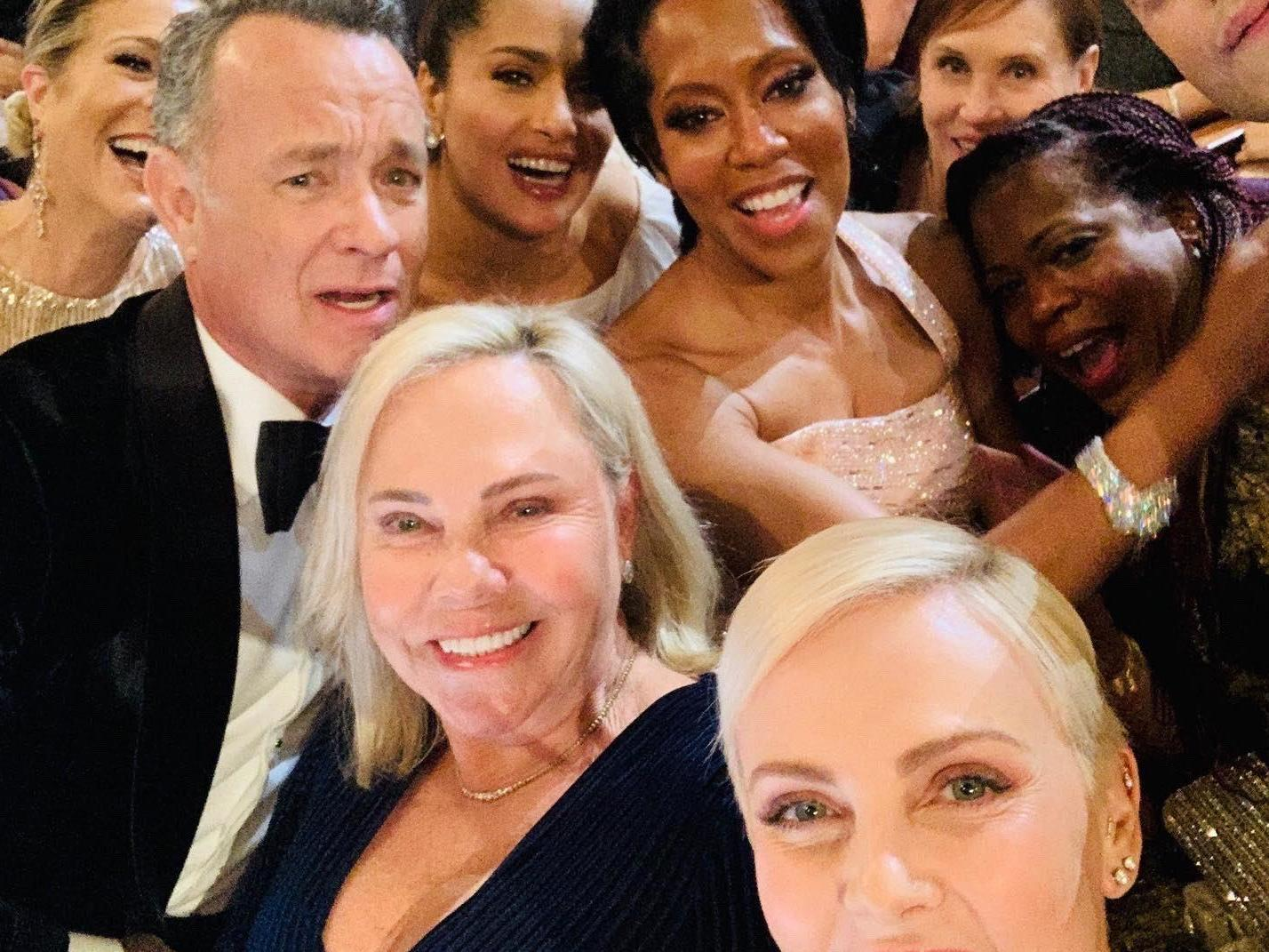 Charlize Theron rivals Ellen DeGeneres' epic Oscar's selfie with star-studded photo