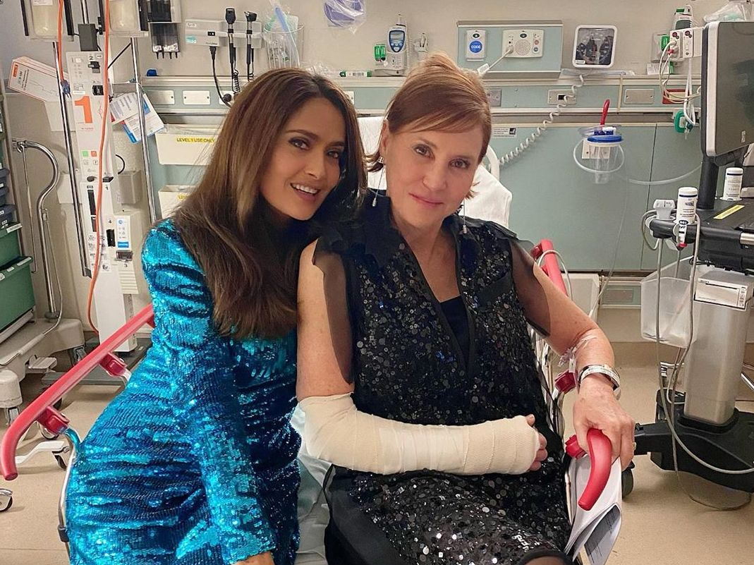 Salma Hayek missed the Oscars after-party to spend the night in A&E