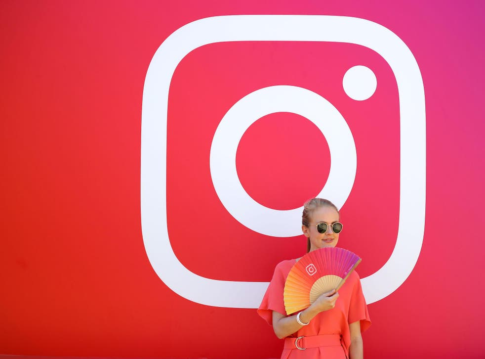 A visitor stands in front of the Instagram stand during day two of Dubai Lynx 2019 at Madinat Jumeirah on March 12, 2019 in Dubai, United Arab Emirates