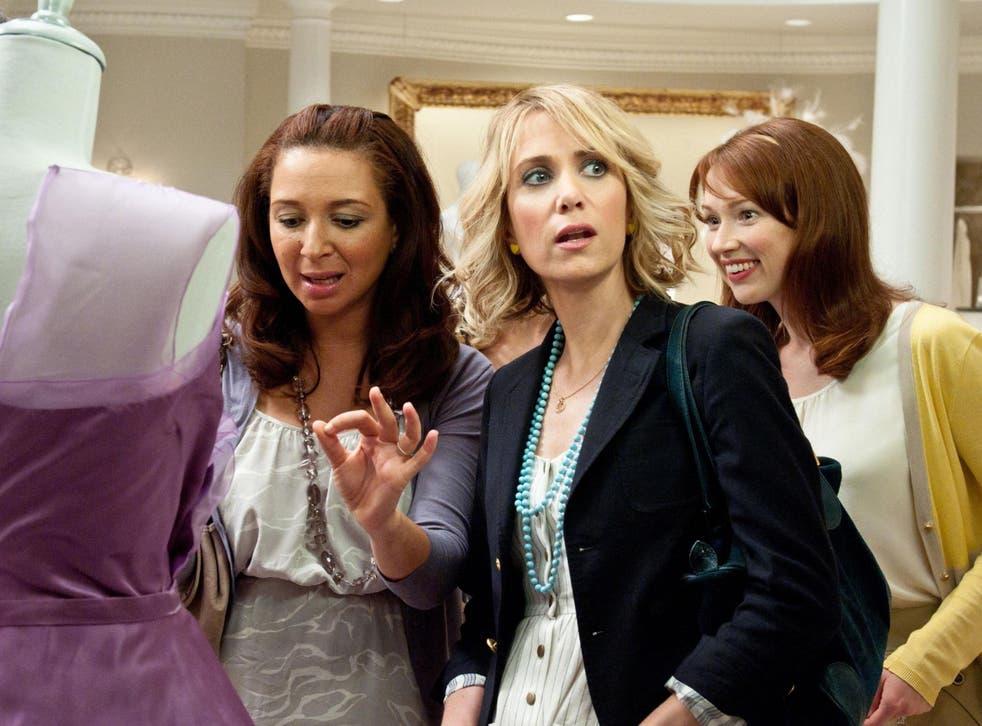 Maya Rudolph (left), Kristin Wiig and Ella Kemper in Bridesmaids