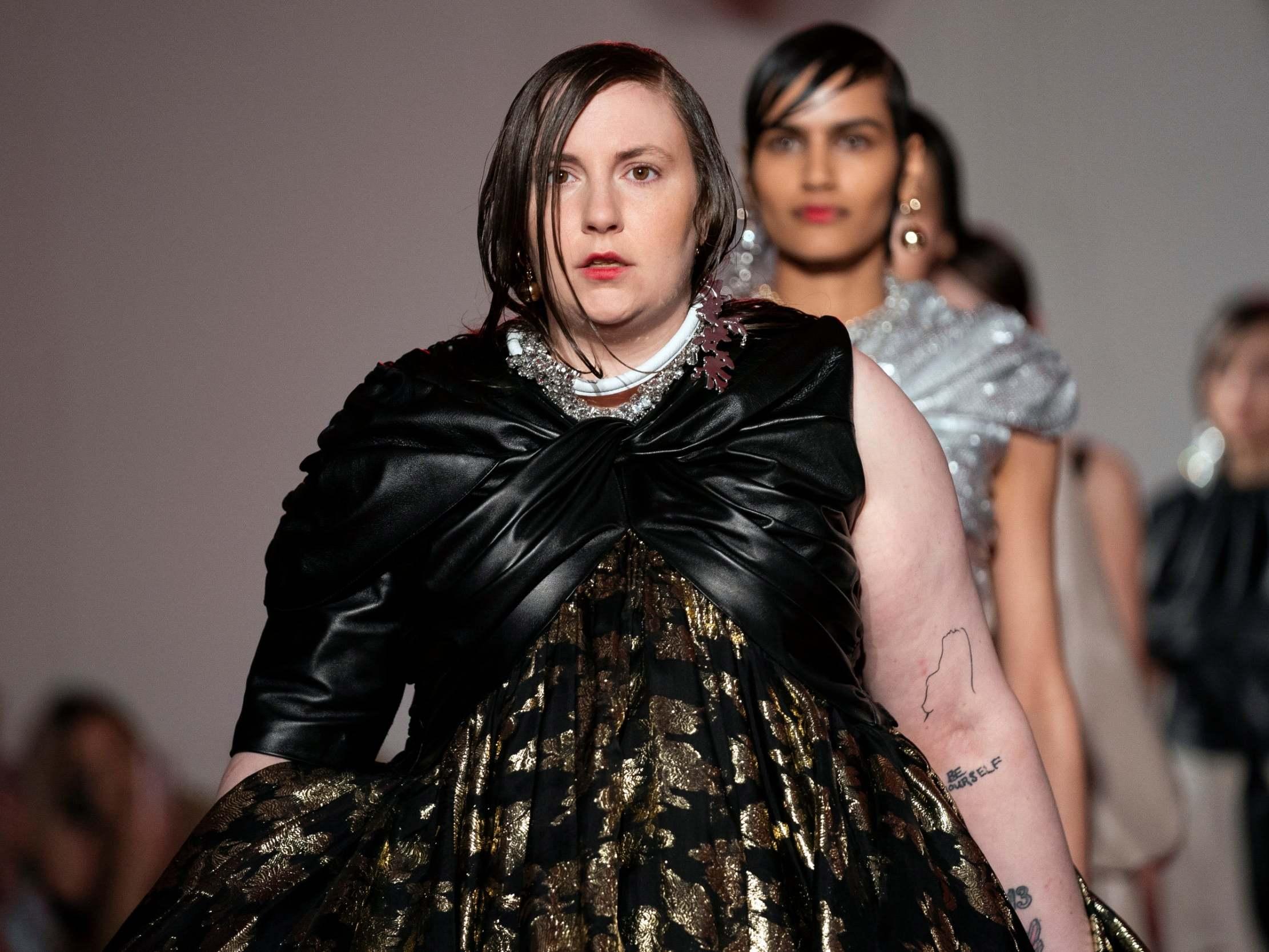 Lena Dunham has 'dream come true' making catwalk debut at London Fashion Walk