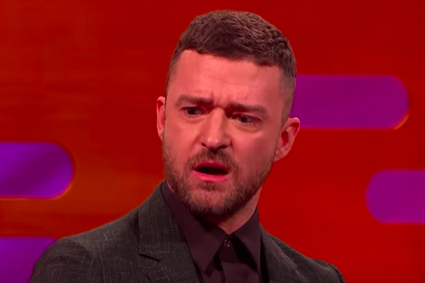 Justin Timberlake struggled to remember his own lyrics after urine was thrown at him at a gig