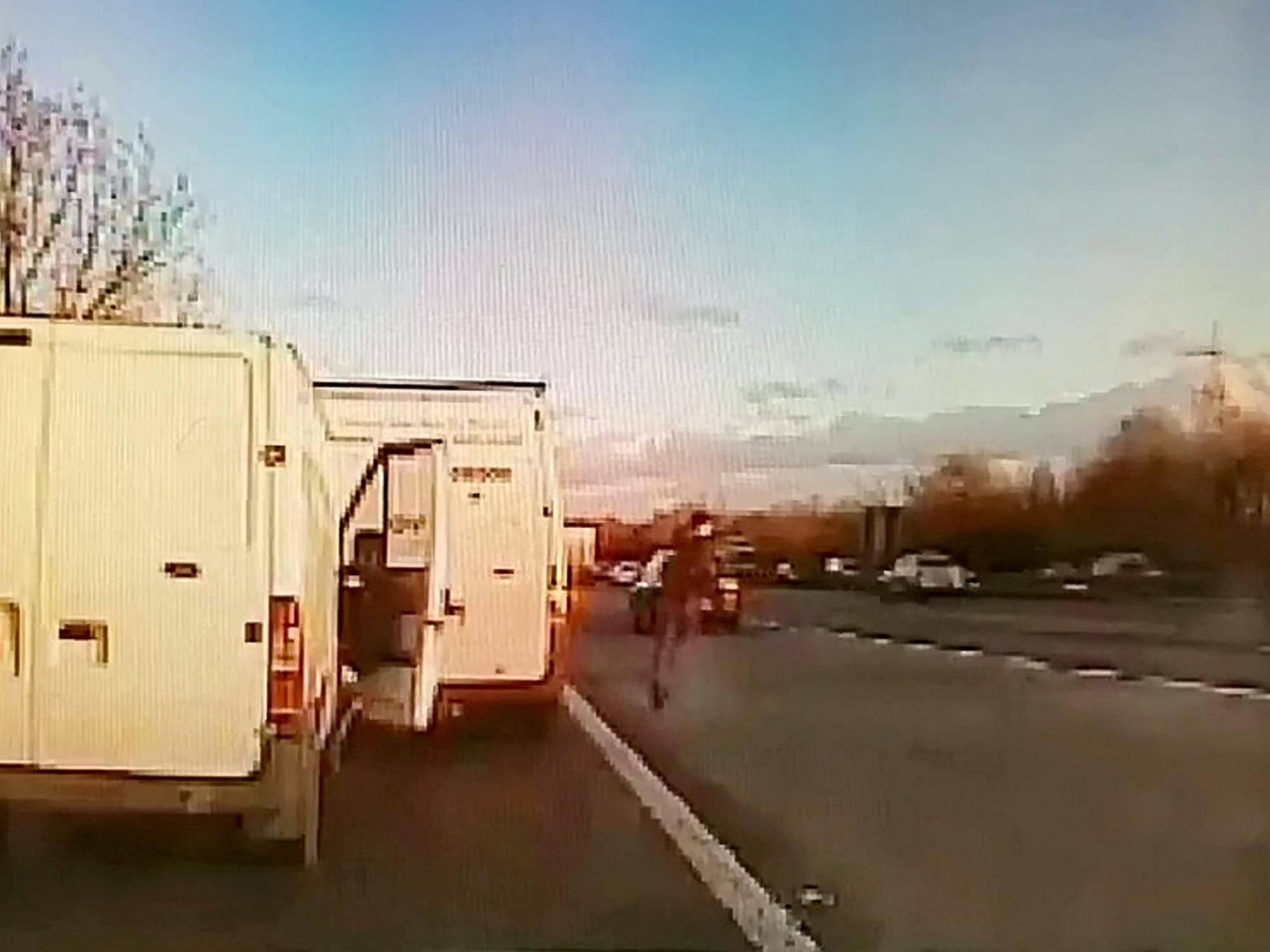 Dashcam footage shows thief's escape from police across six lanes of motorway traffic
