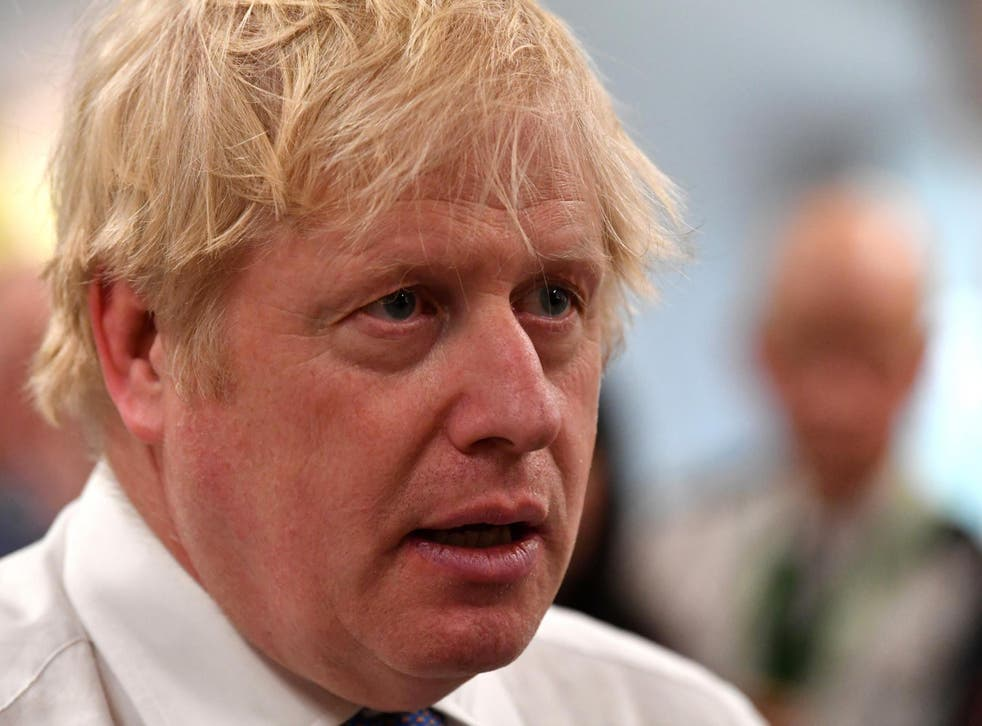 Boris Johnson prior to chairing a cabinet meeting at the National Glass Centre at the University of Sunderland in January