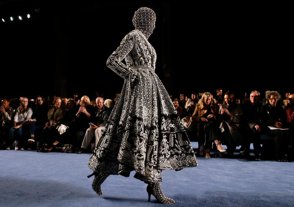London Fashion Week Aw20 A Standing Ovation For Richard Quinn S Spectacular Collection As The Fashion Press Escape Storm Dennis The Independent