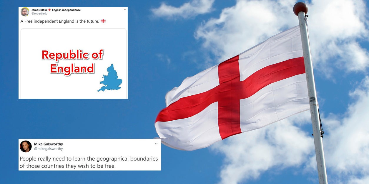 Man tries to launch an 'independent England' campaign and gets it spectacularly wrong