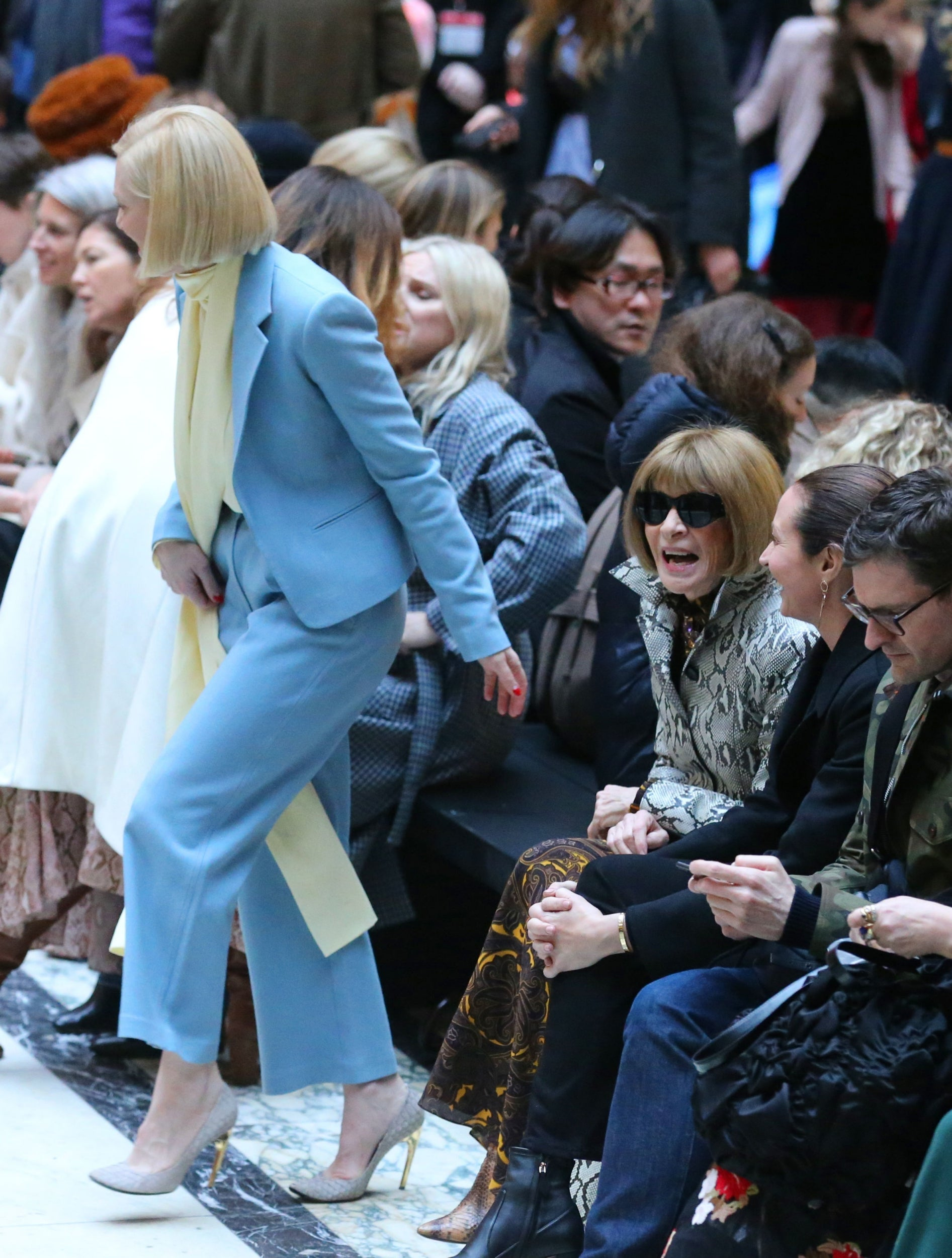 Cate Blanchett, Anna Wintour and Caroline Rush