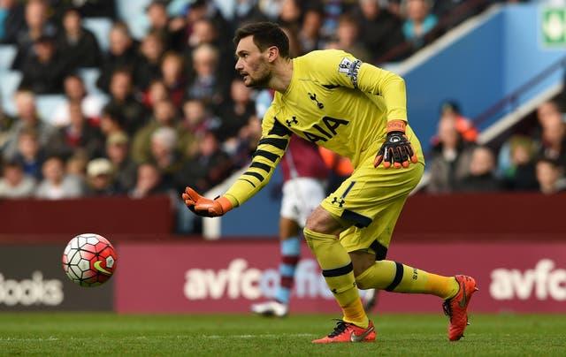 Tottenham goalkeeper Hugo Lloris conceded twice as his side battled past Aston Villa