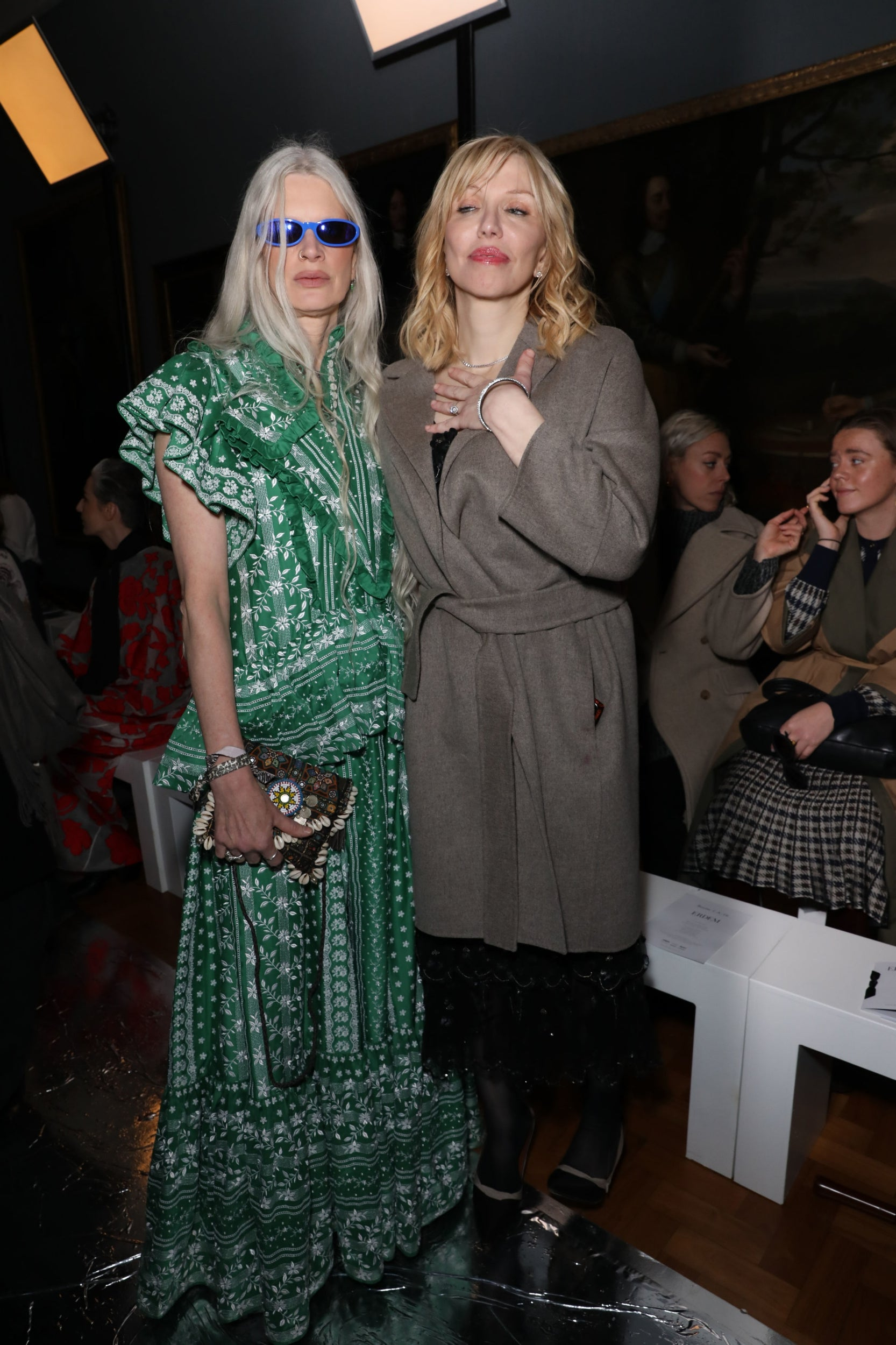 Kristen McMenamy and Courtney Love