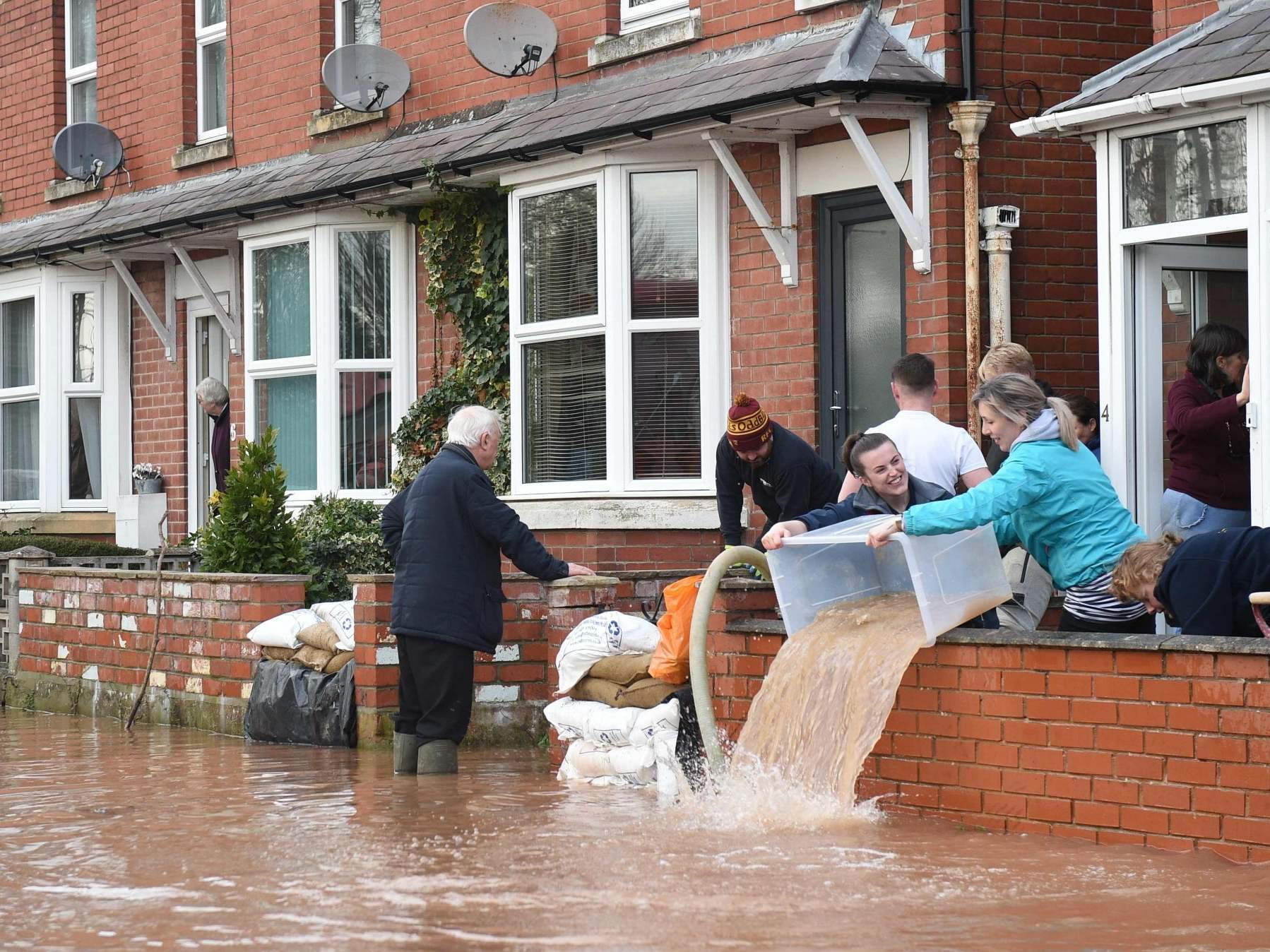 Heavier rainfall from storms '100% for certain' linked to climate crisis, experts warn