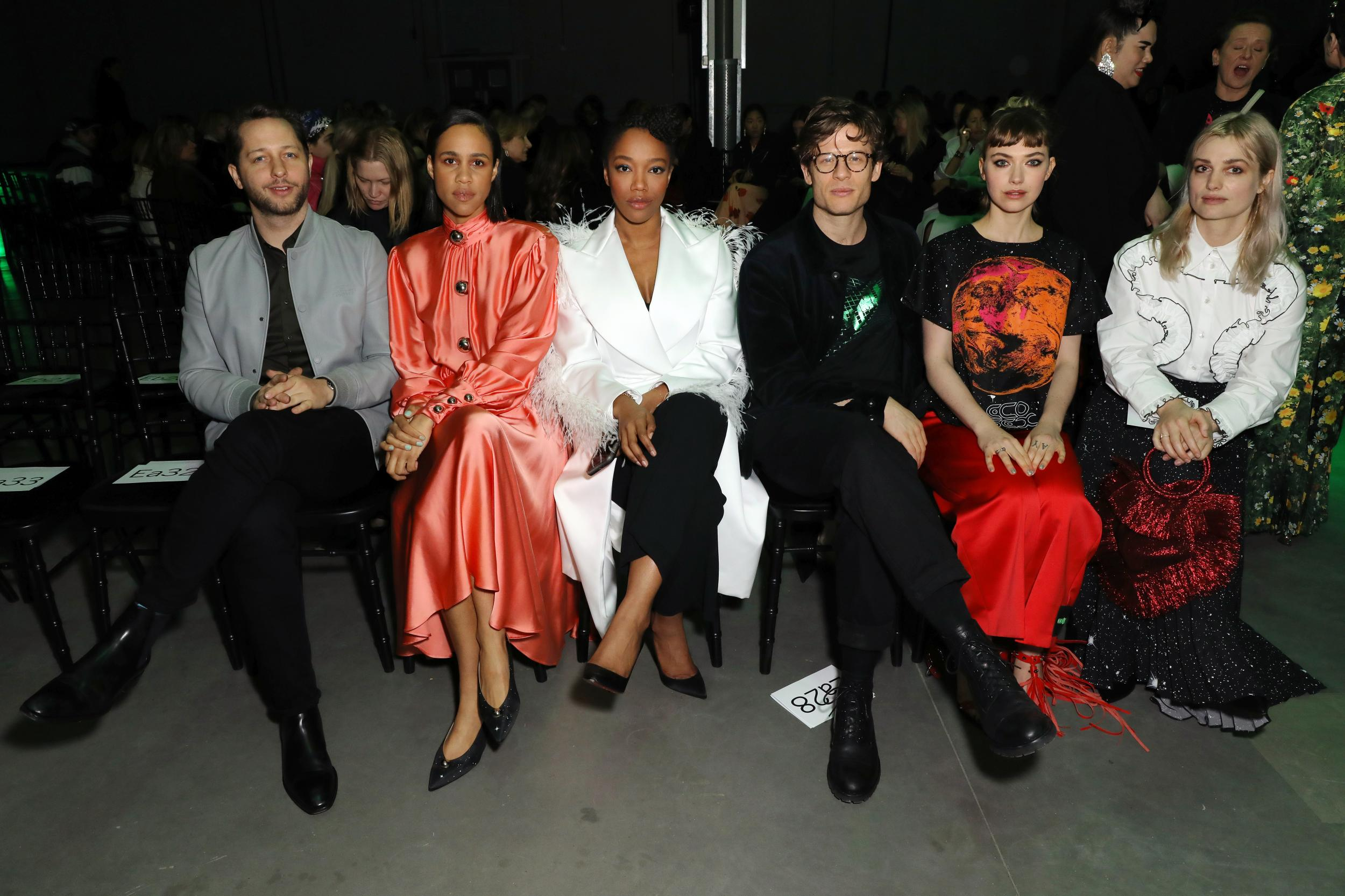 Derek Blasberg, Zawe Ashton, Naomi Ackie, James Norton, Imogen Poots and Alison Sudol