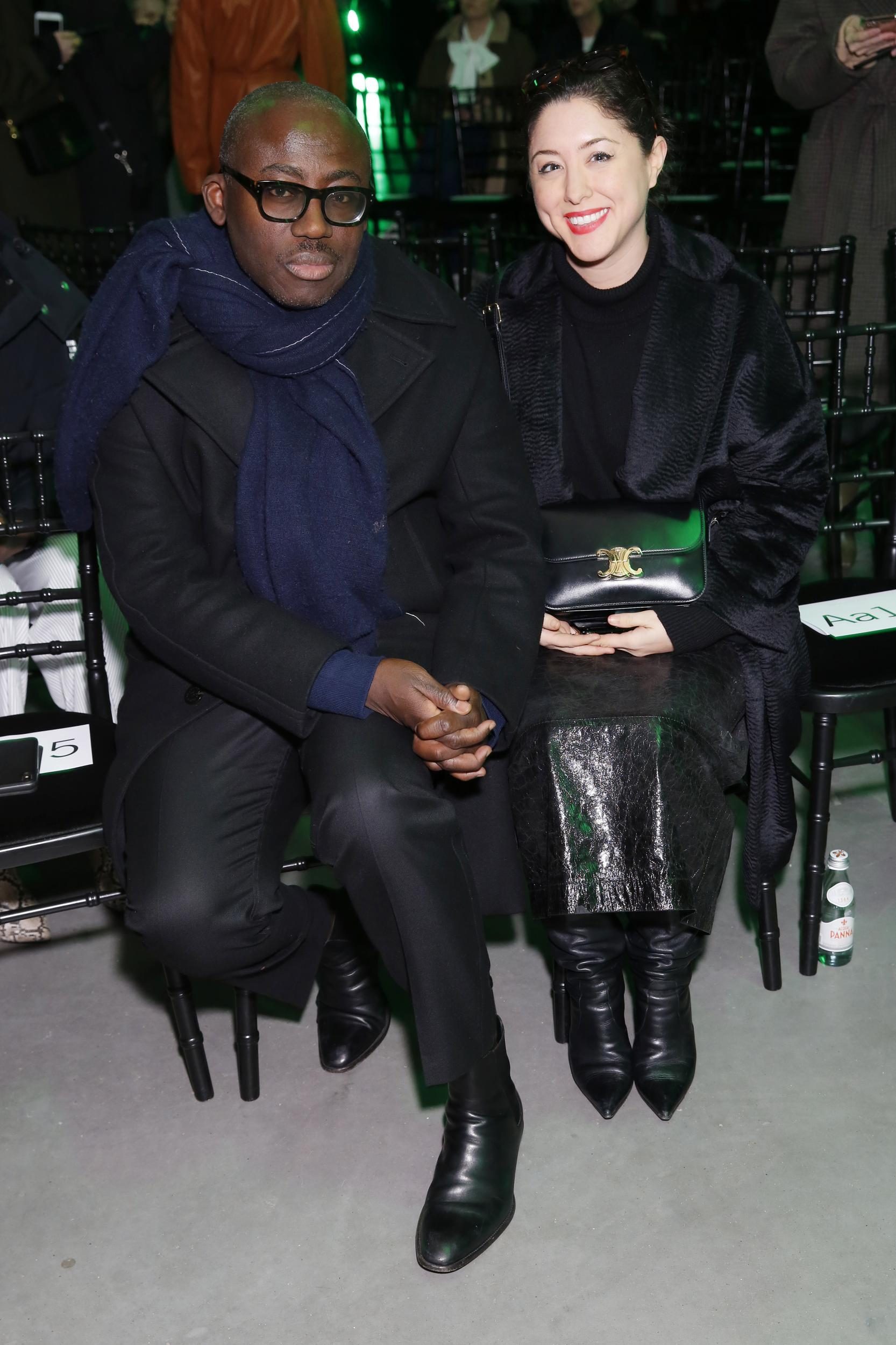 Edward Enninful and Dena Giannini