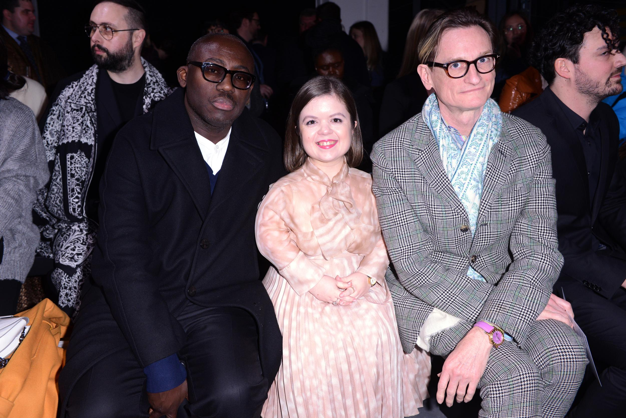 Edward Enninful, Sinéad Burke and Hamish Bowles