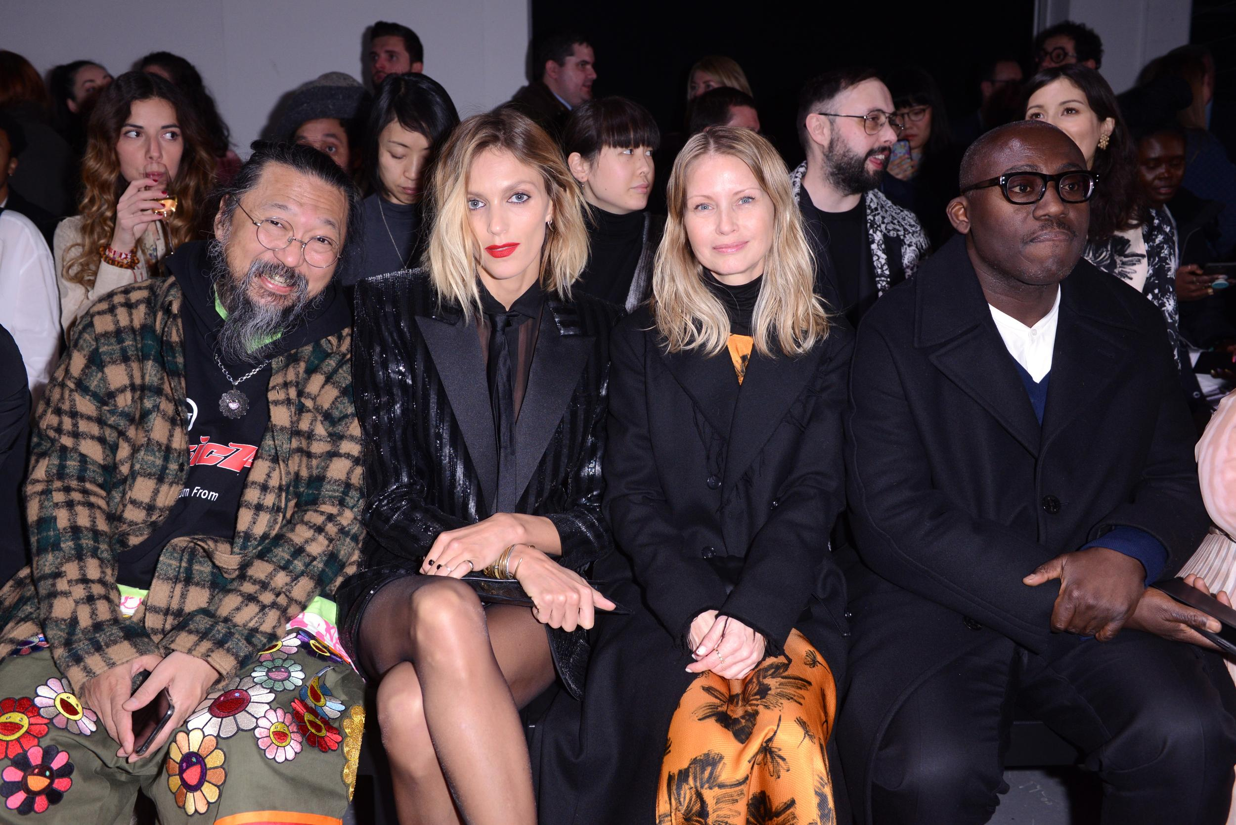 Takashi Murakami, Anja Rubik, Holli Rogers and Edward Enninful