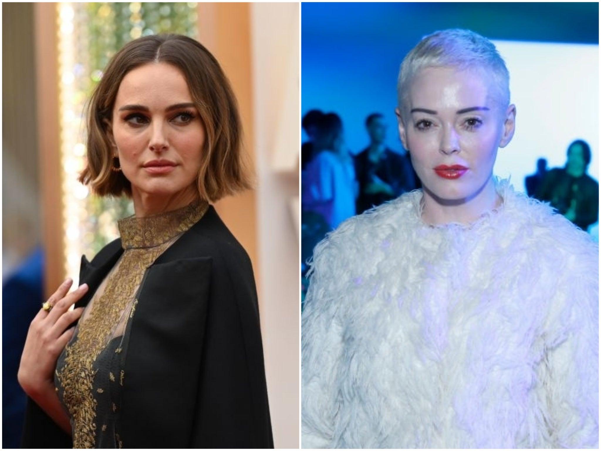 Rose McGowan says she regrets condemning Natalie Portman's feminist Oscar dress