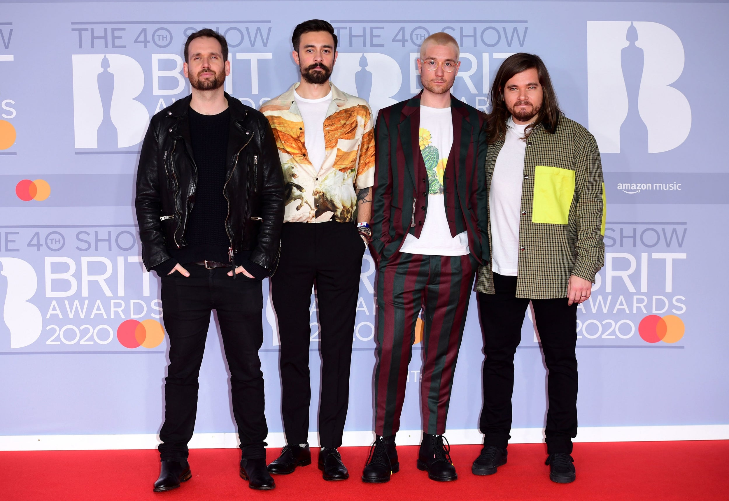 Will Farquarson, Kyle Simmons, Dan Smith and Chris Wood of Bastille