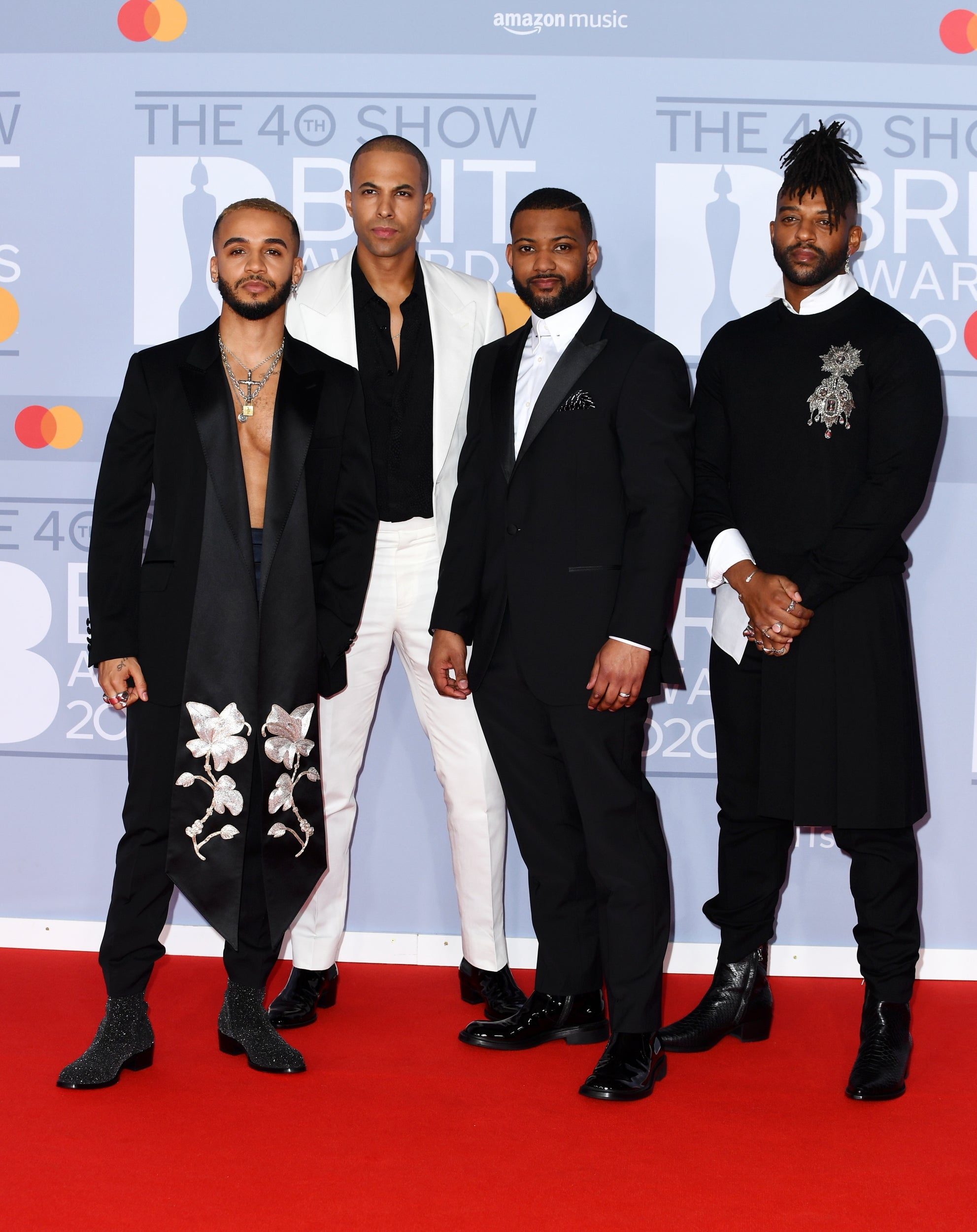 Aston Merrygold, Marvin Humes, JB Gill and Oritse Williams of JLS