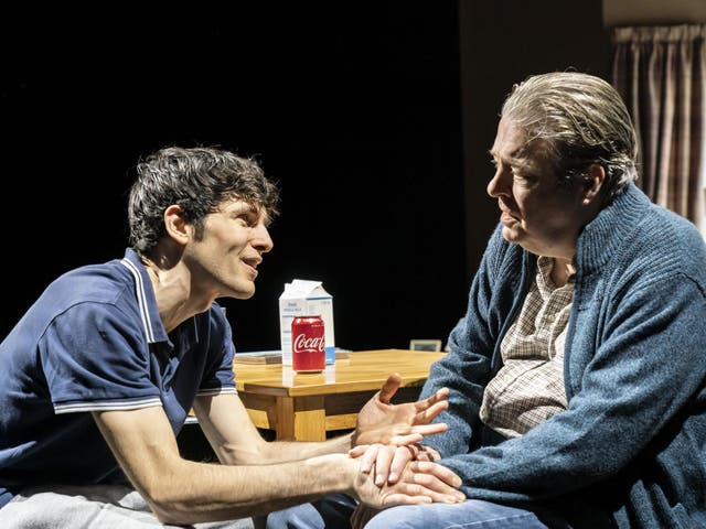 An innate sense of discomfort: Colin Morgan and Roger Allam in 'A Number'