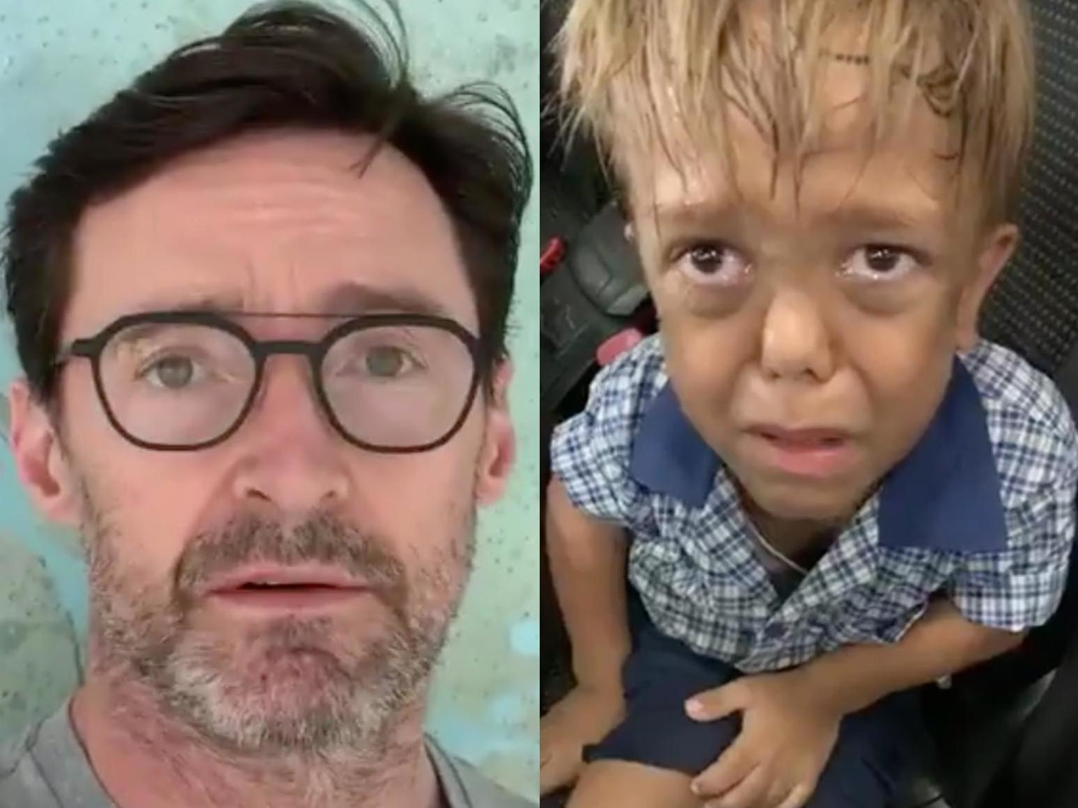 Hugh Jackman sends message of support to schoolboy bullied for dwarfism whose emotional video went viral