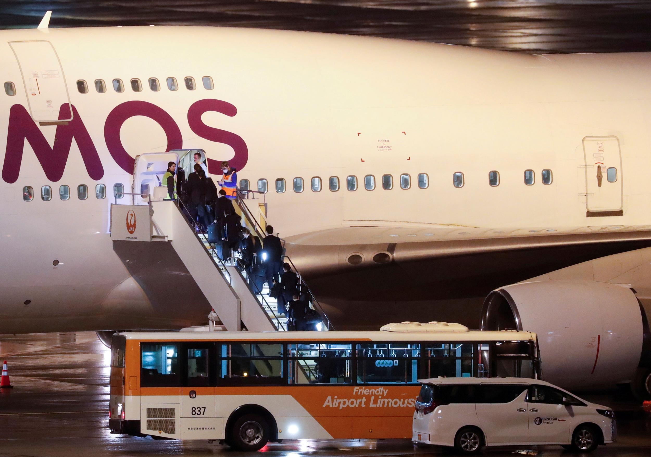 Coronavirus: Evacuation flight carrying Britons from quarantined cruise ship takes off from Japan