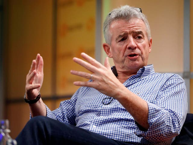 Ryanair Chief Executive Michael O'Leary speaks during a Reuters Newsmaker event in London